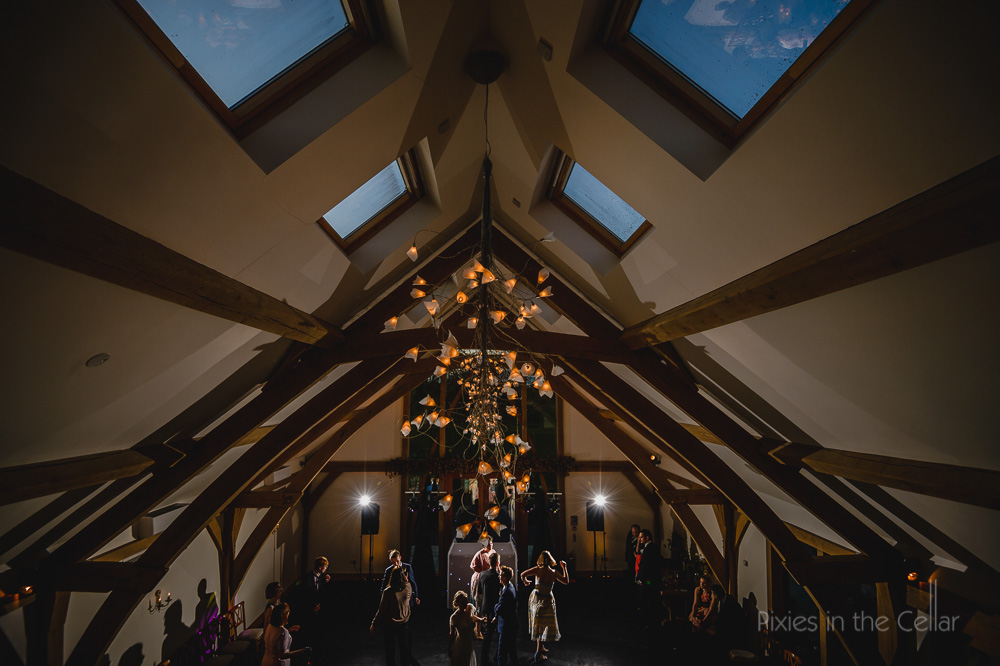 Mythe Barn wedding disco