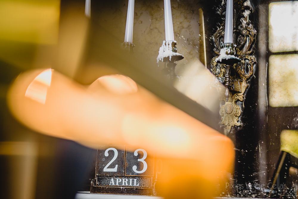 calendar and candelabra