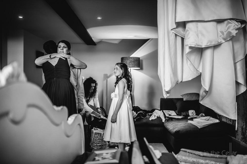 bridal prep GJS wedding