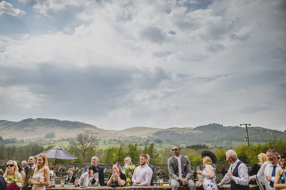 Outdoor speeches Lake District wedding