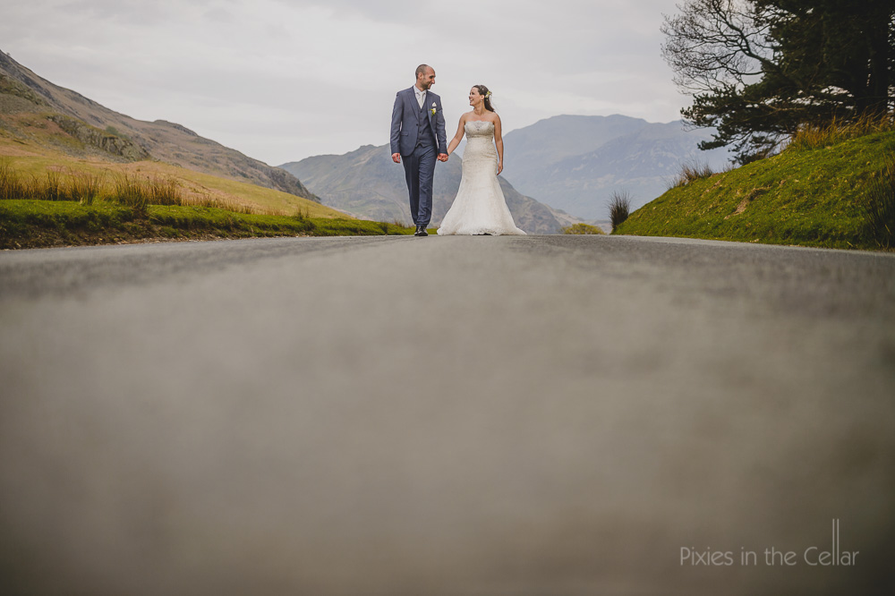 Lake District countryside wedding photographers