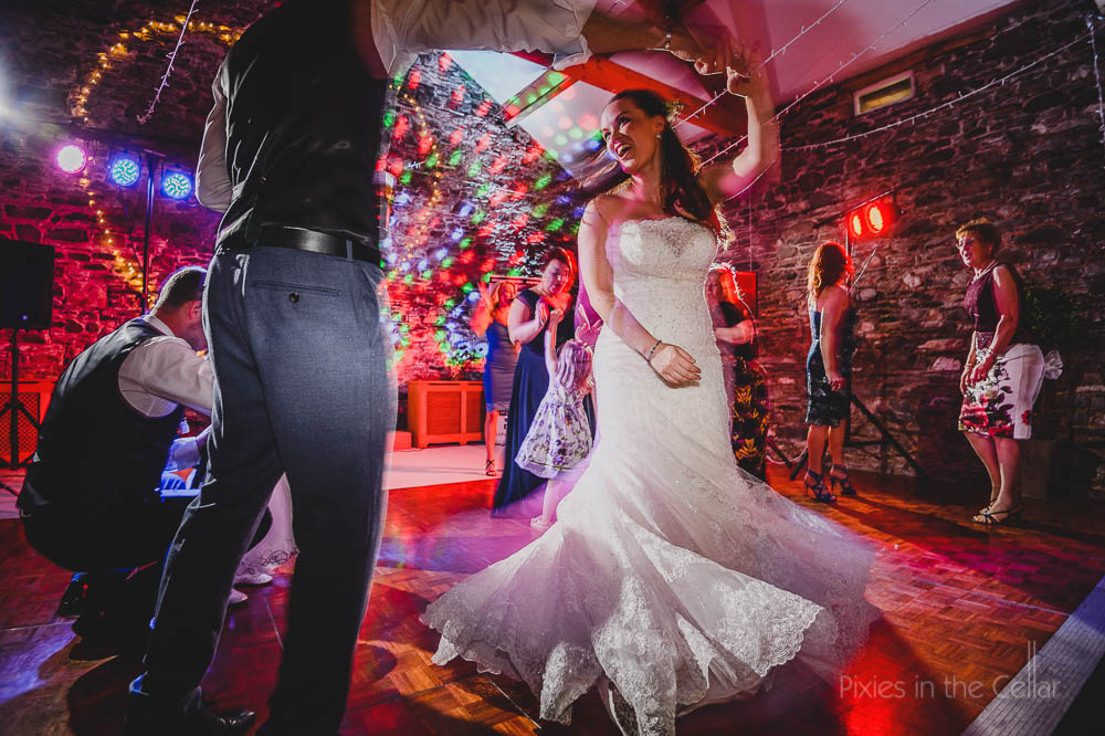 barn rustic wedding dancing