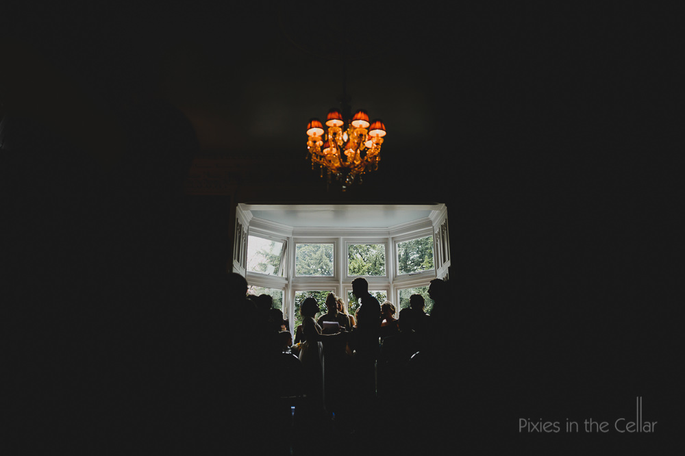 wedding ceremony at didsbury house hotel