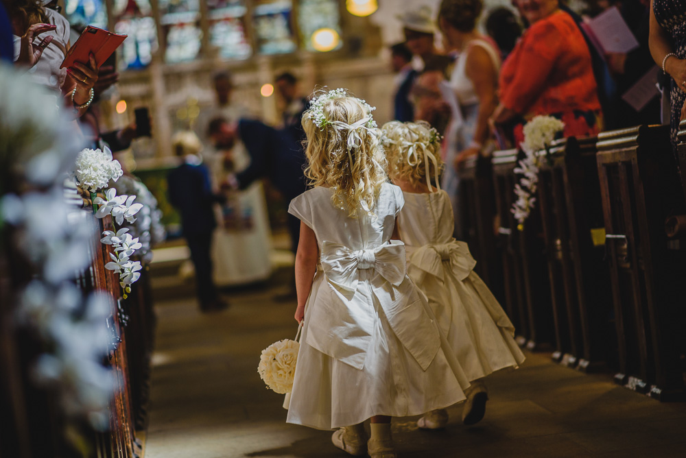 flower girls church wedding