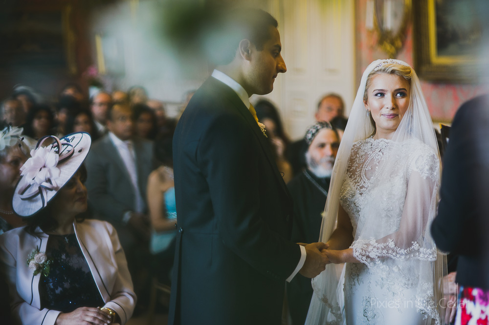 Capesthorne Hall Wedding ceremony Photography