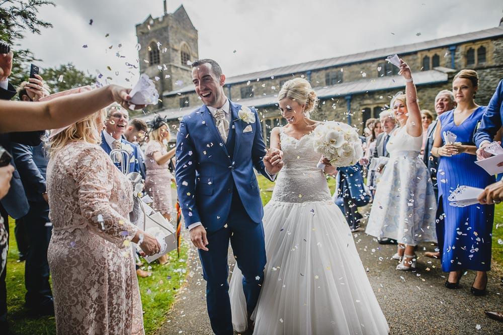 Wedding confetti in Windermere