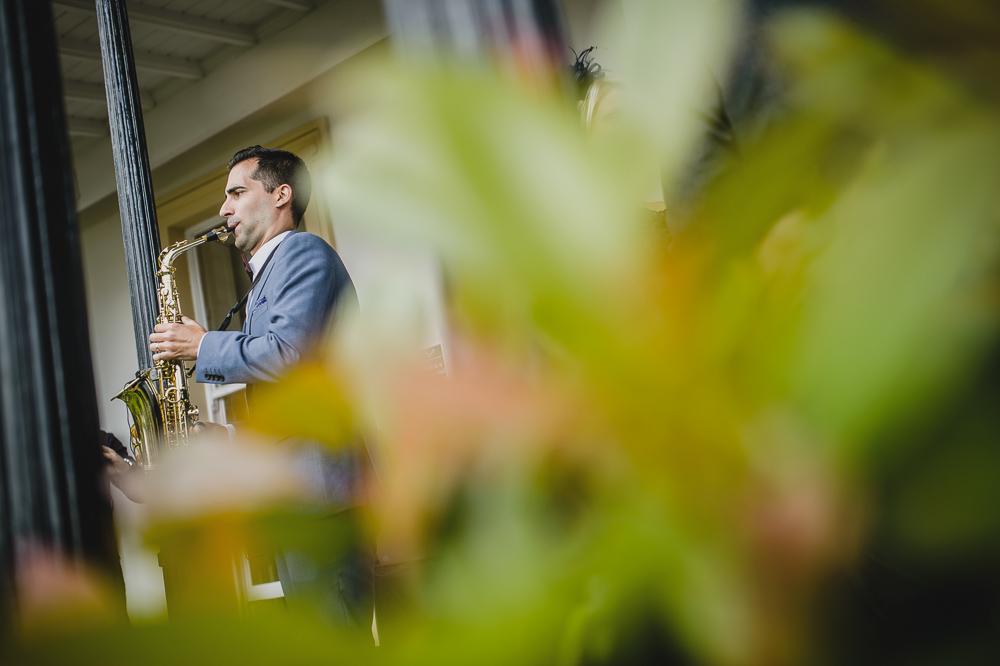 Saxophonist Jesus Martin
