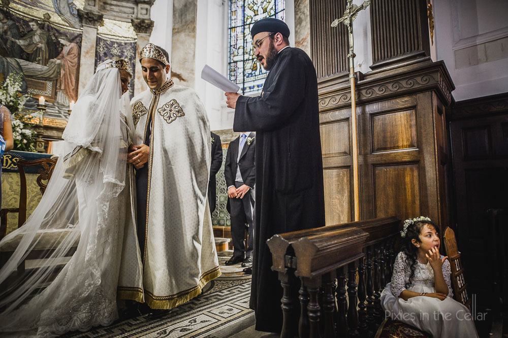 Orthodox wedding in cheshire crowns and gowns