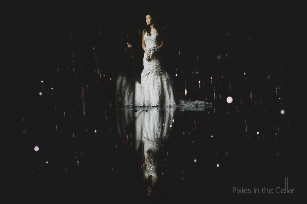 bride reflection photo