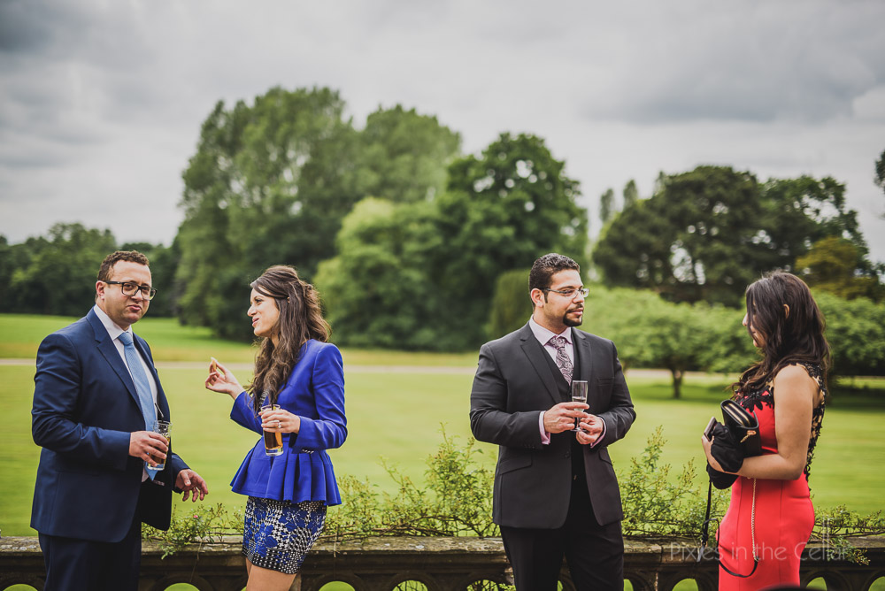 wedding guests at reception summer cheshire