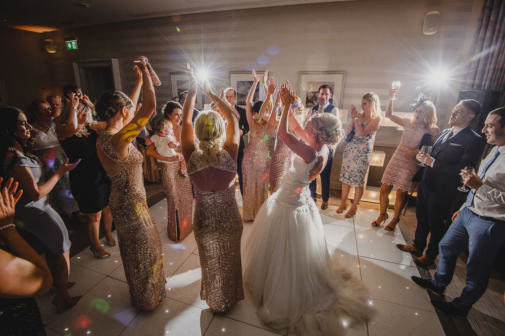 Wedding dancing at hotel
