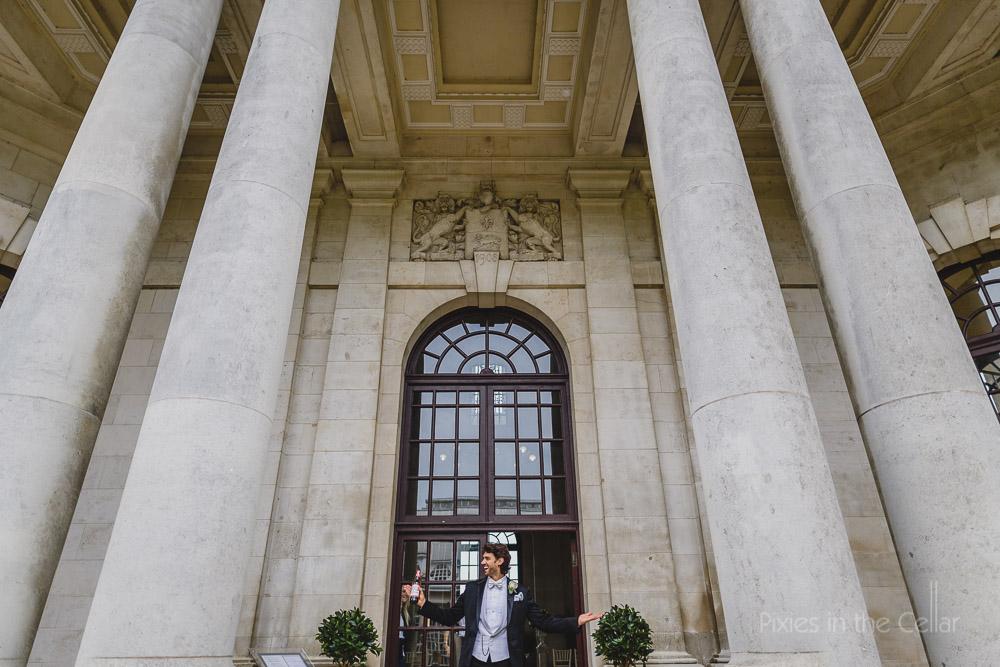 groom at ashton memorial wedding lancaster