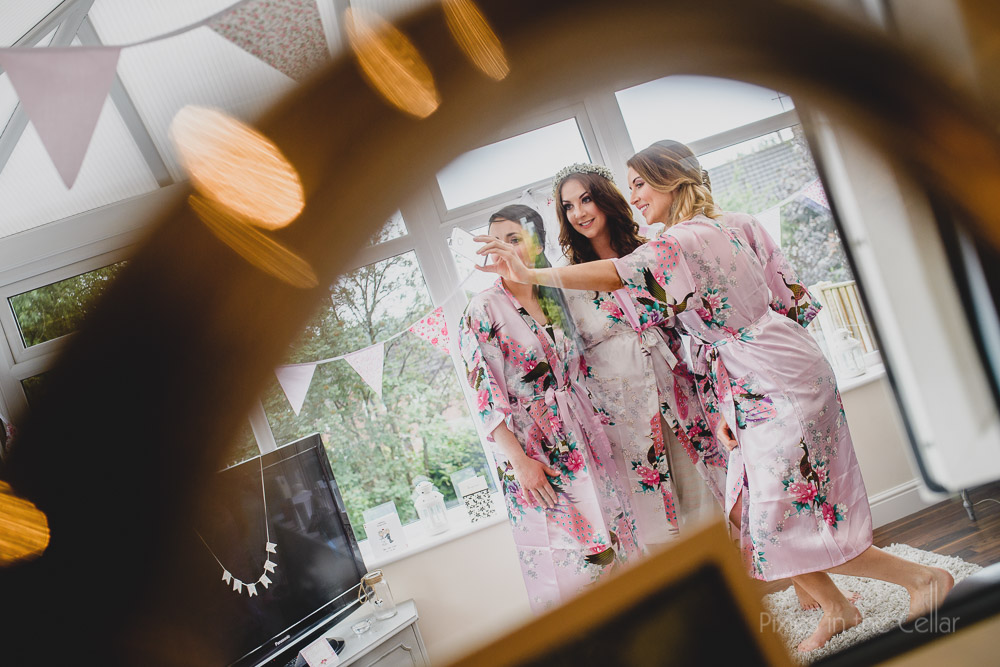 bride and bridesmaids dressing gowns