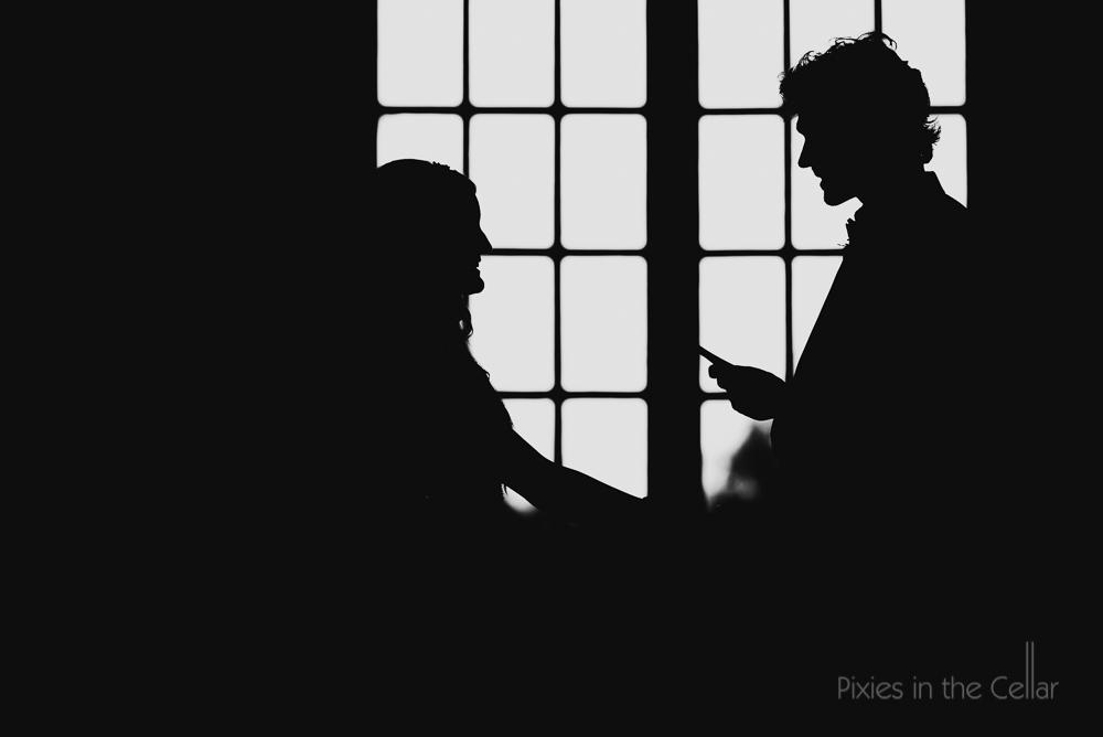 wedding vows silhouettes