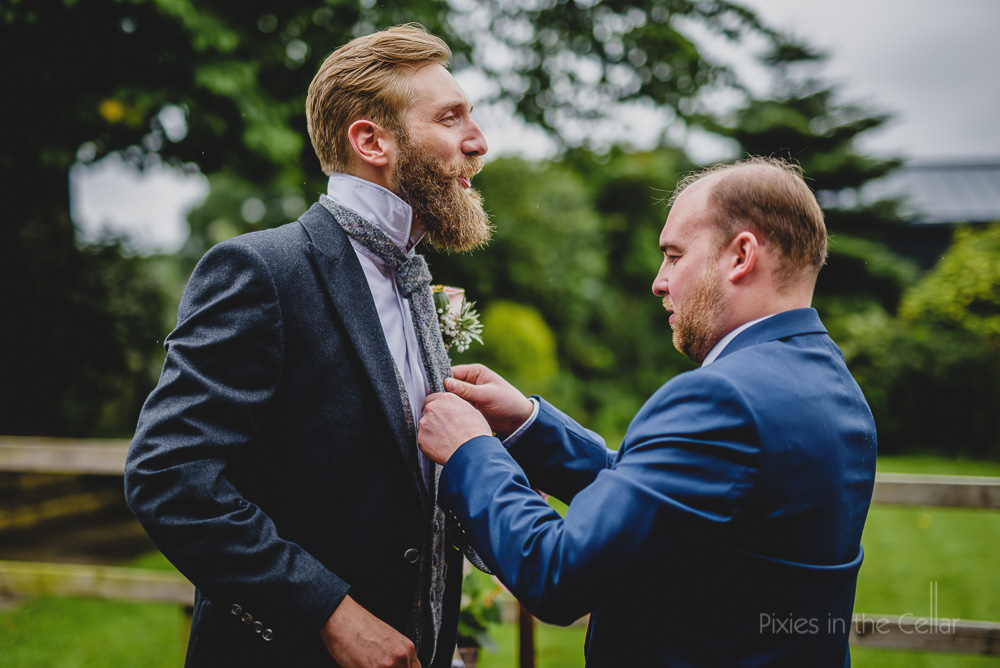 tweed wedding tie