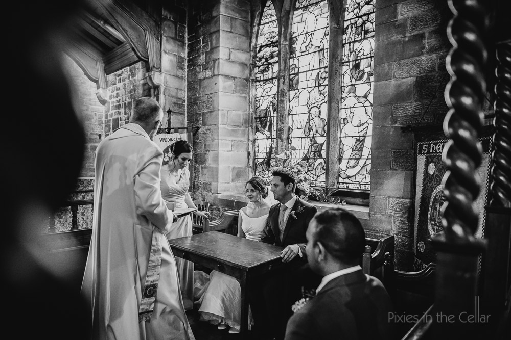 signing register waddington church wedding