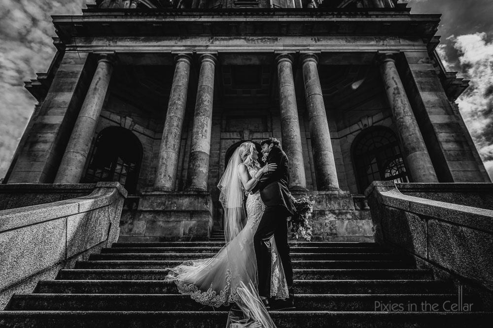 dramatic creative wedding photography uk