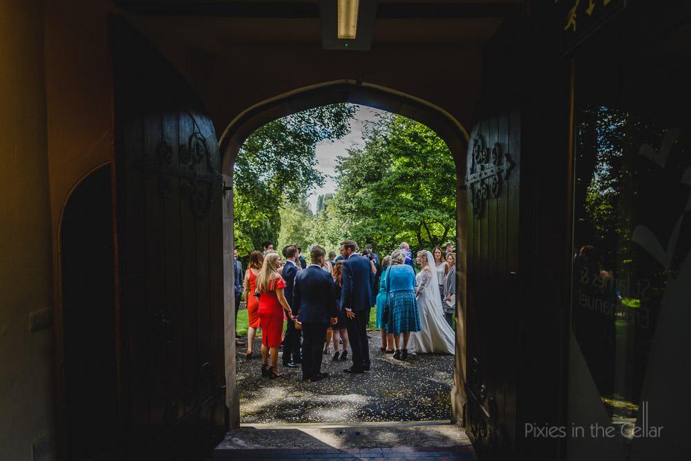 summer wedding view
