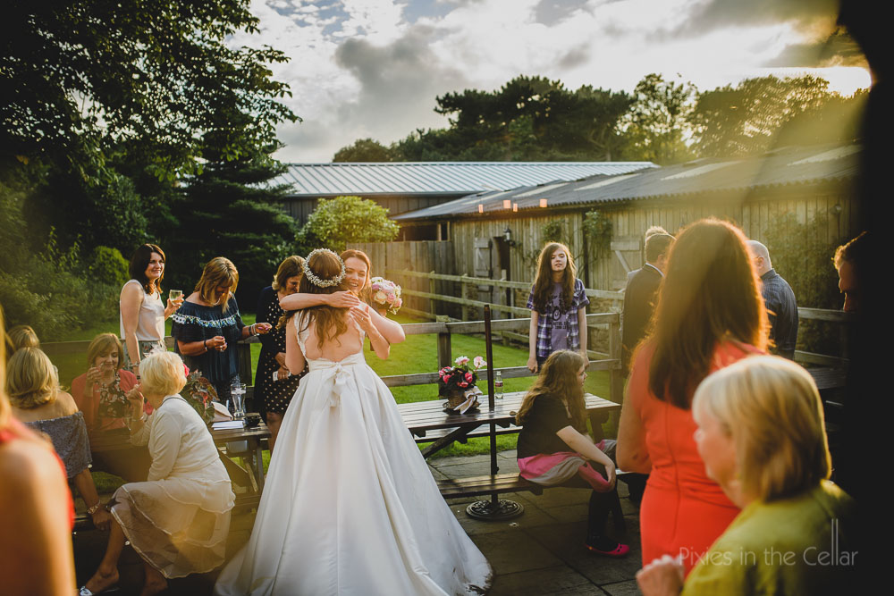 wedding evening light documentary photography