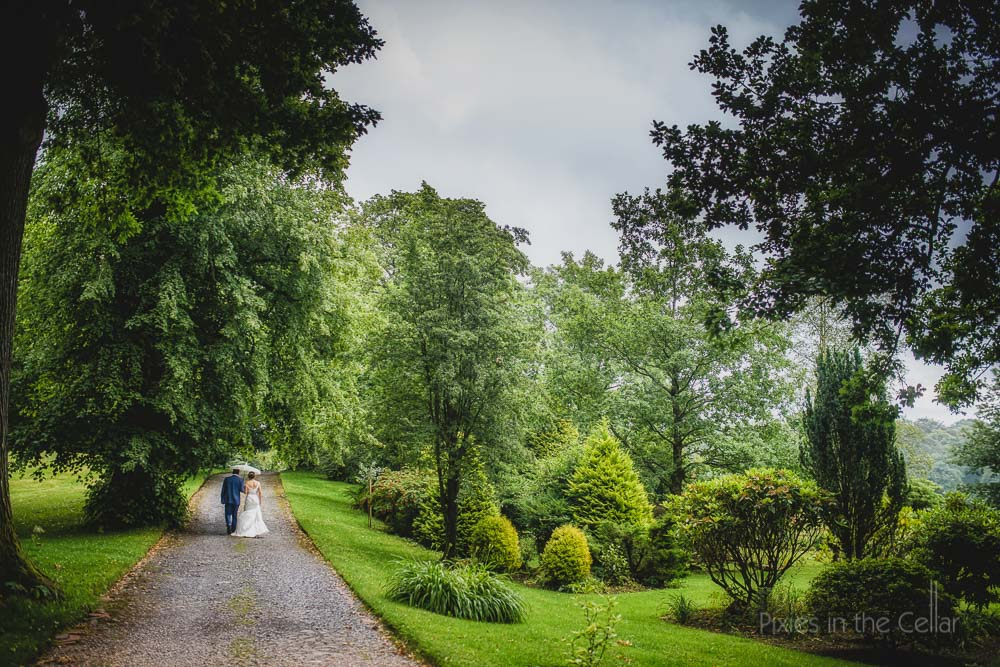 rainy wedding browsholme hall