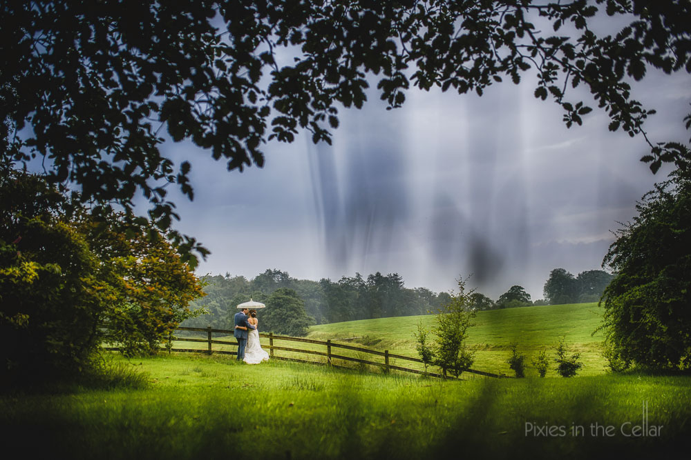 browsholme hall wedding landscape