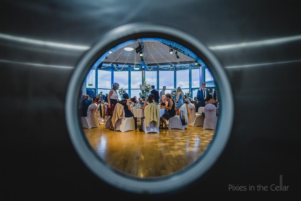 wedding reception porthole