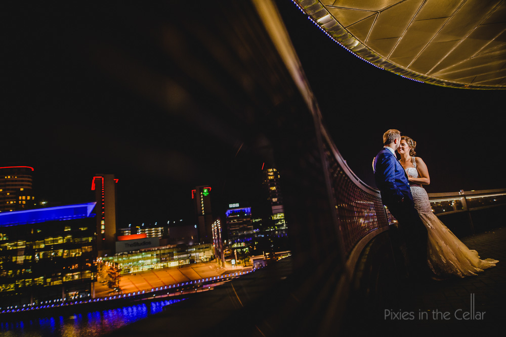 Lowry Theatre wedding photography Manchester Salford