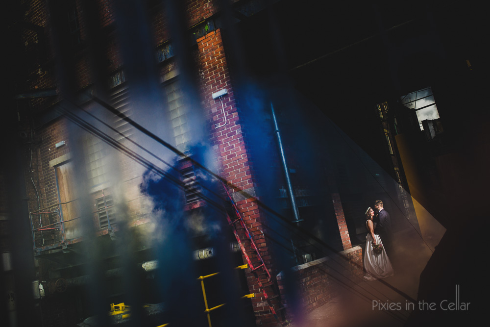 urban gritty wedding photography 2016 factory