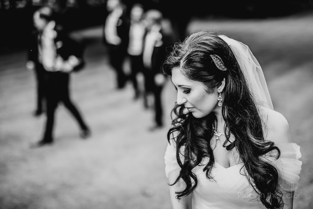 pensive iranian bride