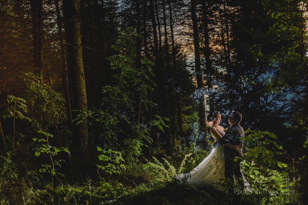 woodland wedding photos