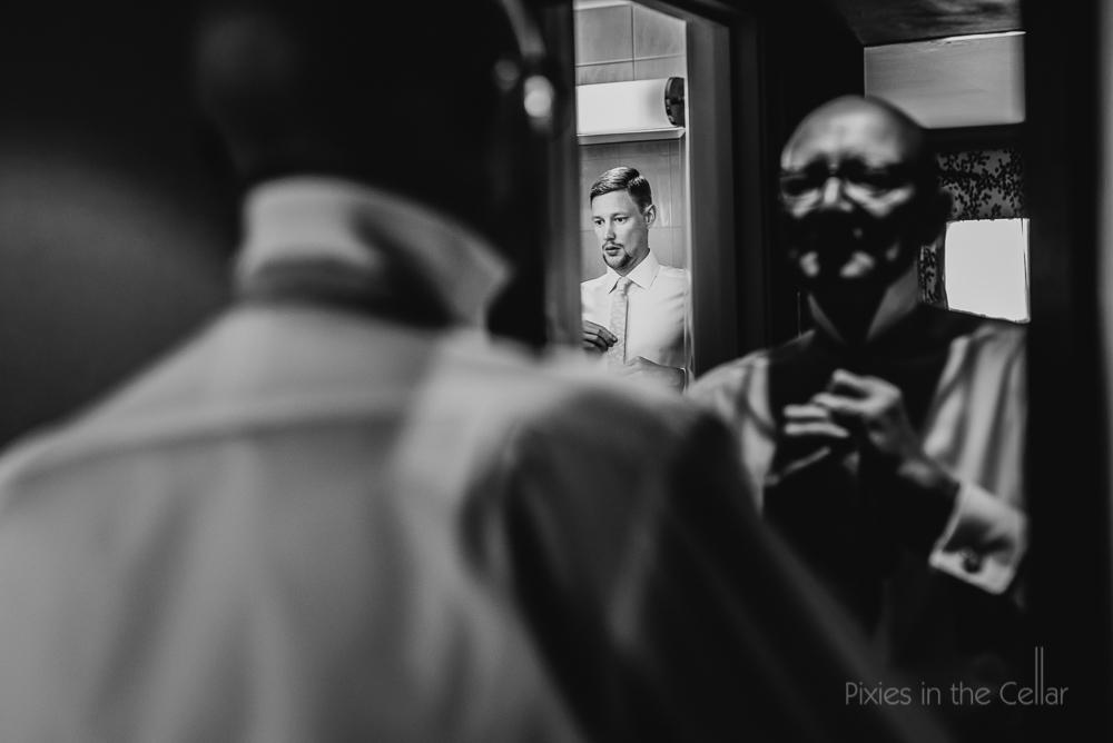 groom prep for owen house wedding barn photography
