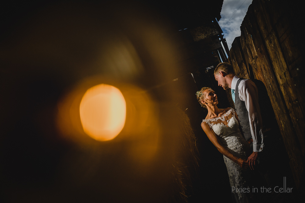 owen house wedding barn bride groom photo