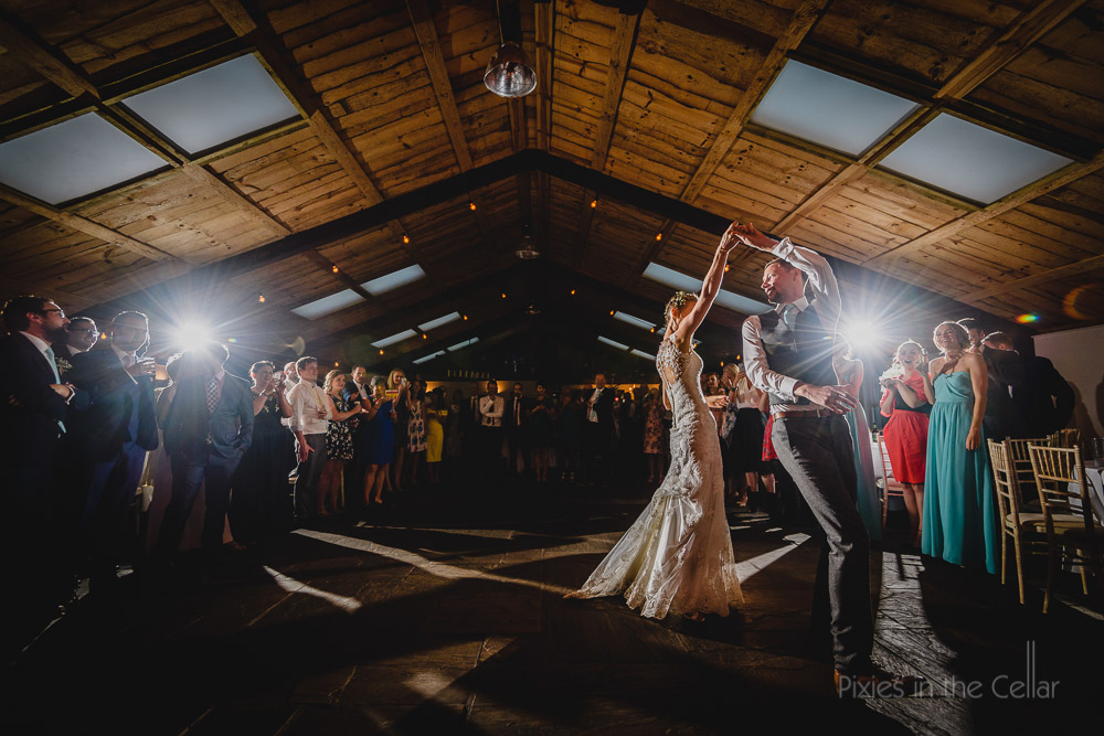barn wedding first dance photo