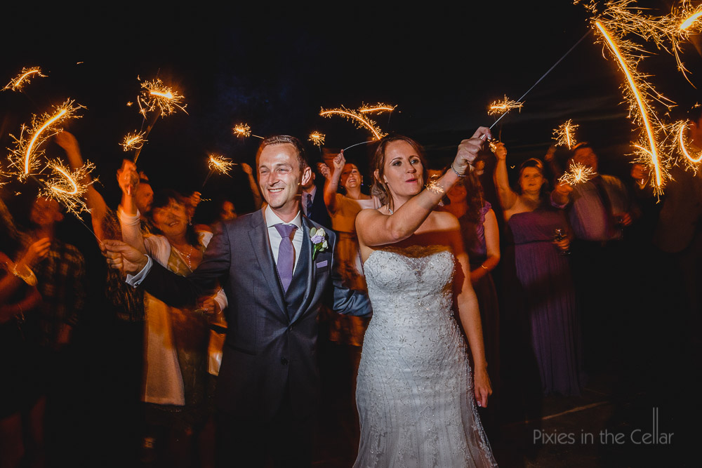 Beeston Manor wedding photography sparklers