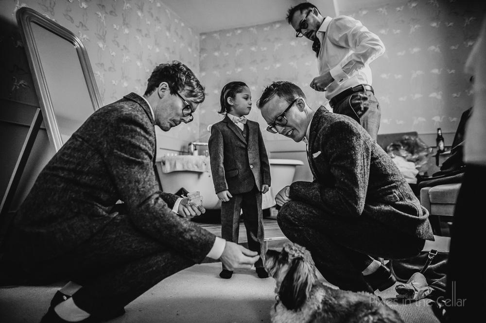 west mill wedding groom prep at mackworth