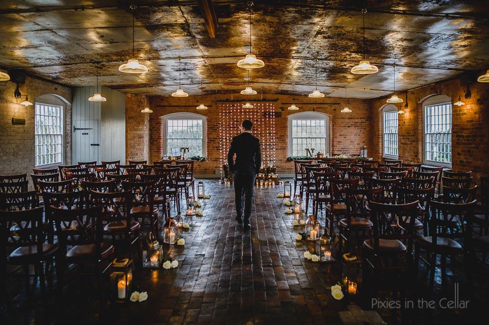 west mill wedding groom pre-ceremony