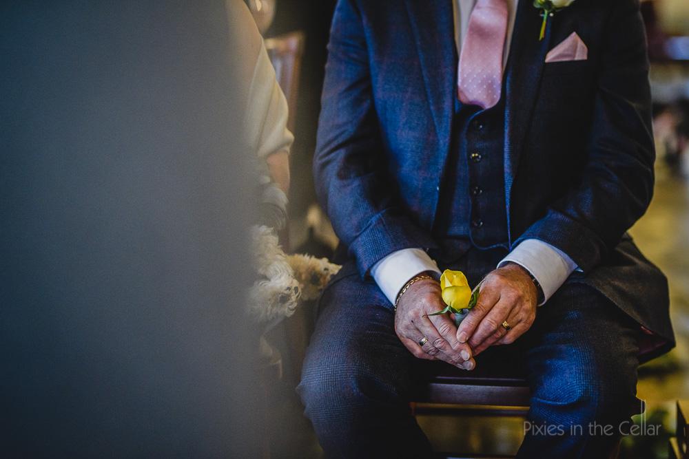 wedding dad with flower