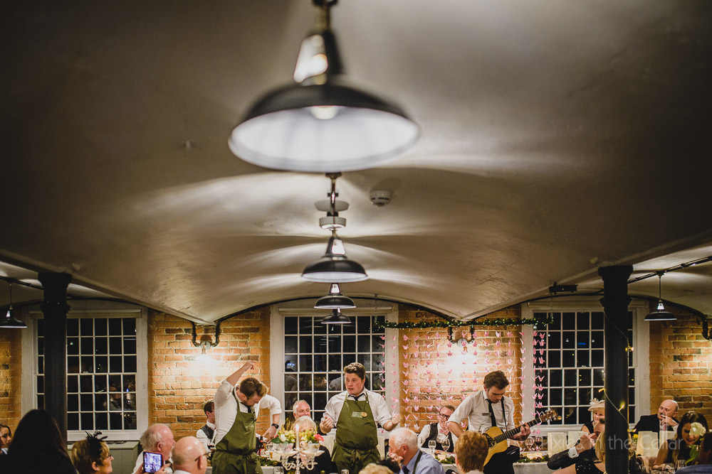 uk singing waiters derby wedding