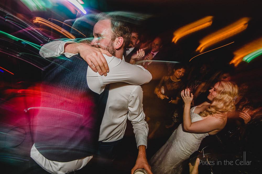 dancing and hugging