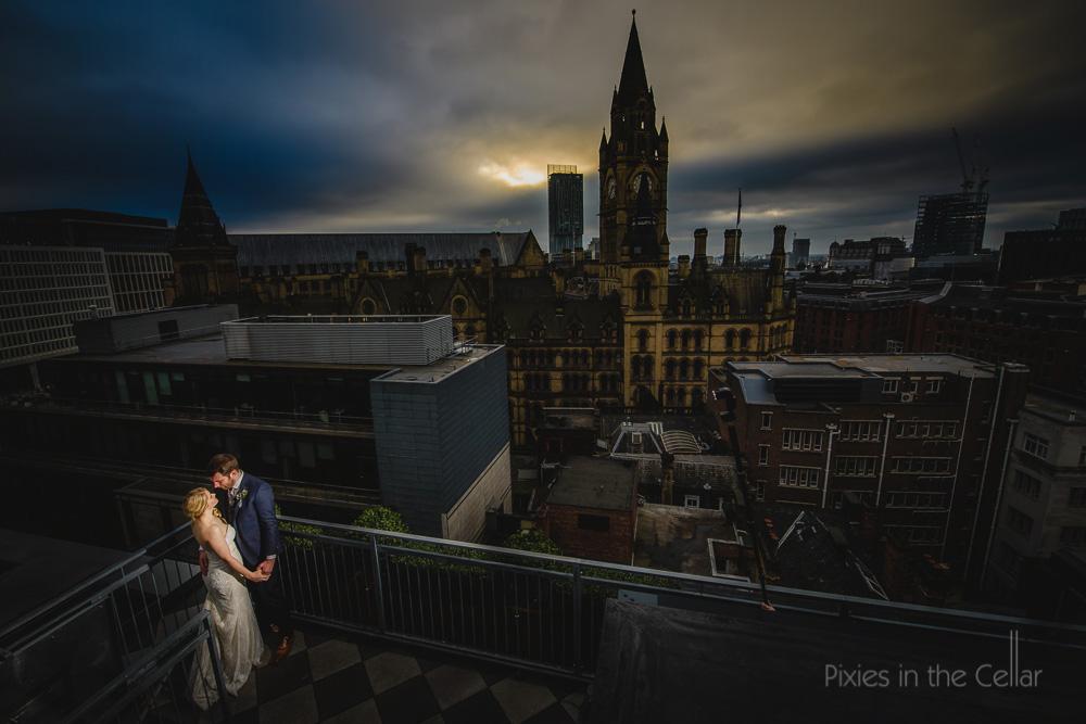 best views of manchester wedding photos