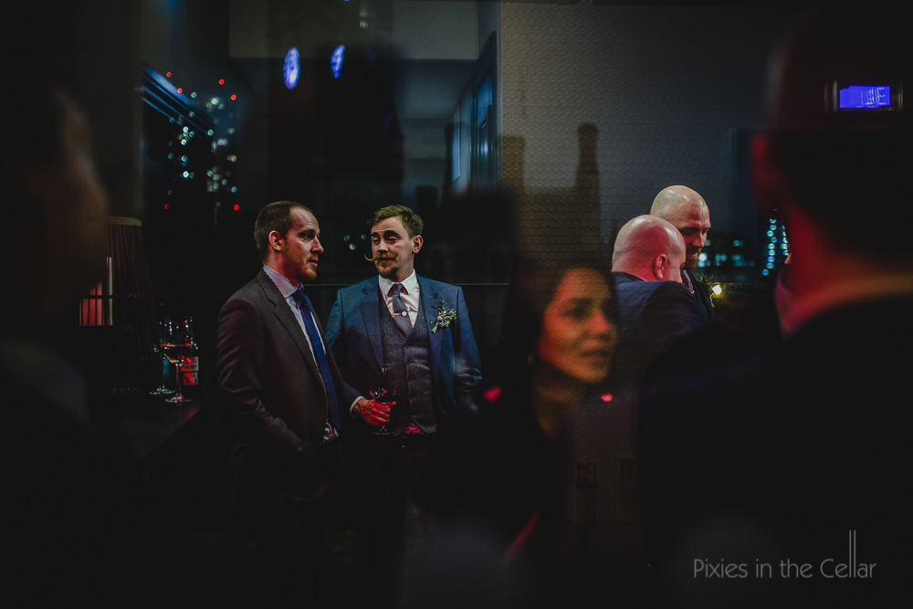 winter wedding guests and reflections