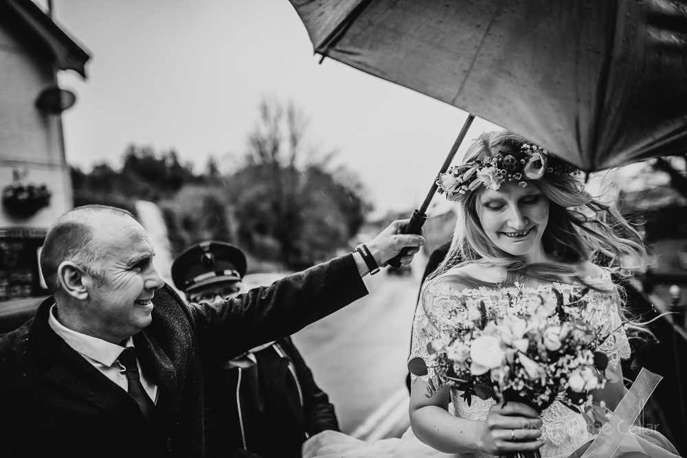 rainy wet wedding day photos real moments documentary