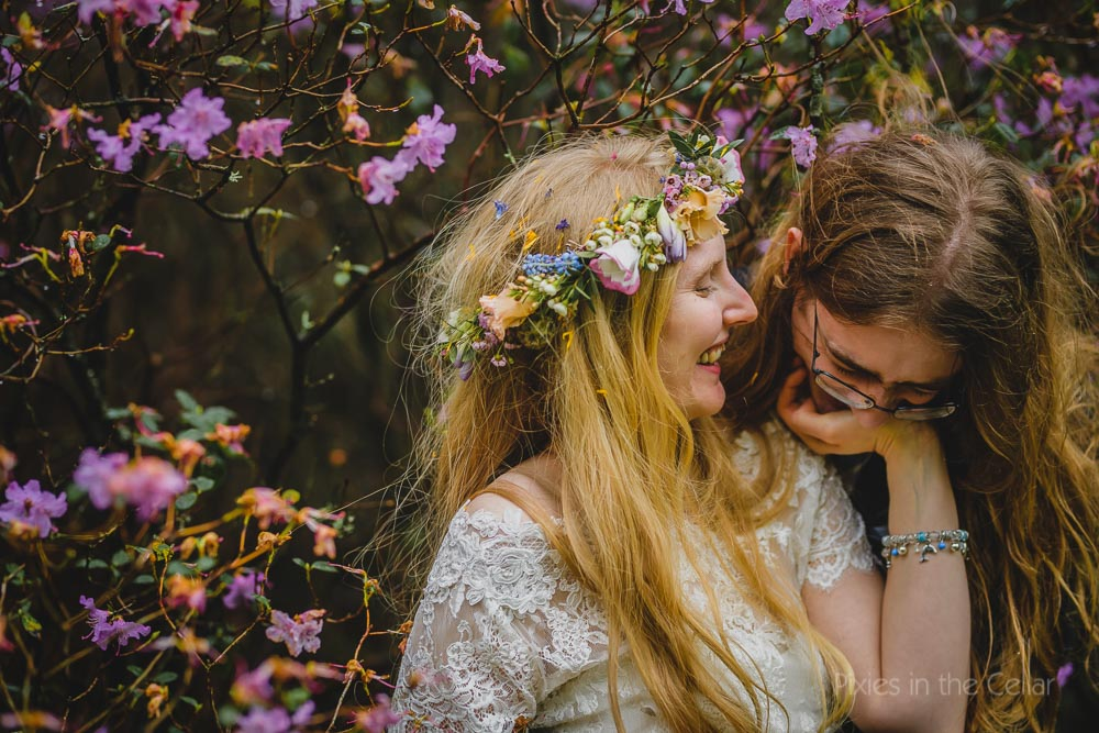 flower crown bride spring wedding
