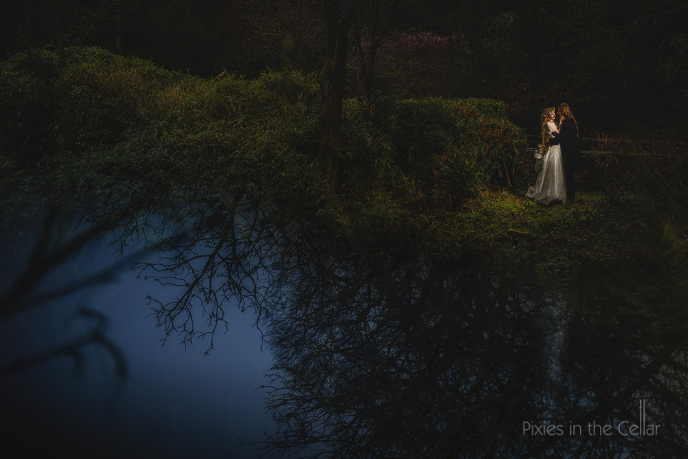 Rivington Hall Barn Wedding photographers winter wedding
