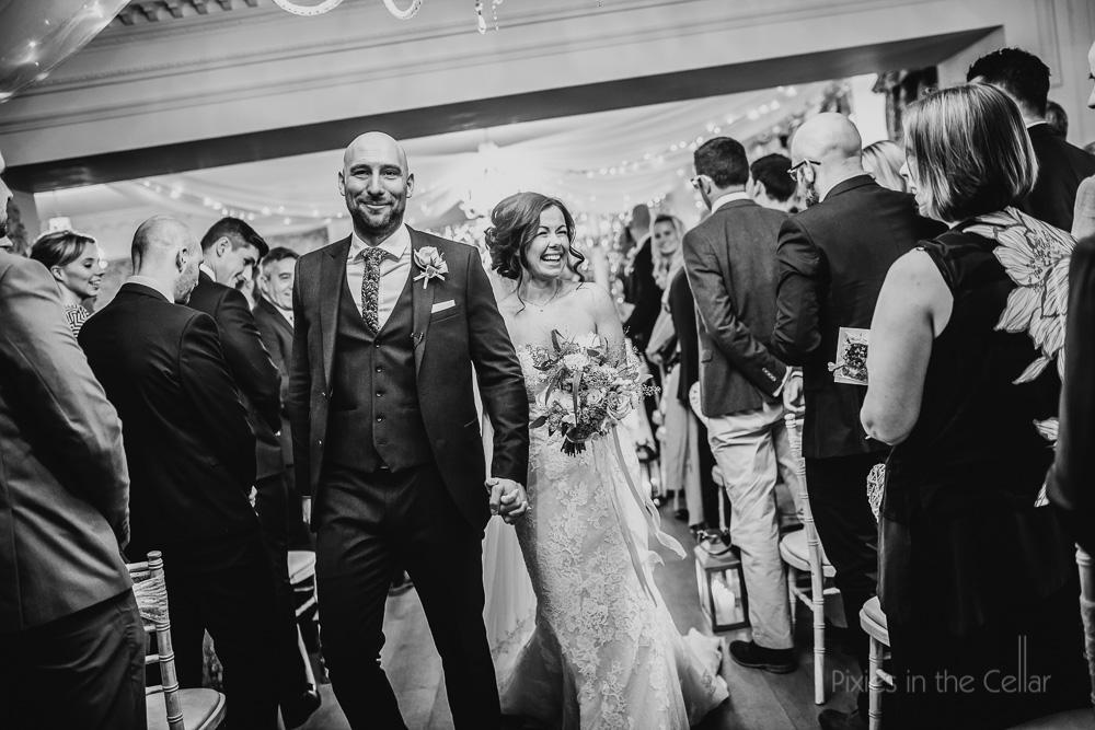 Just married walk
