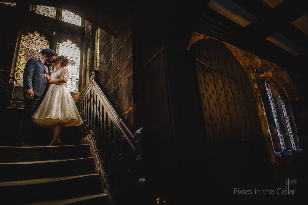 chethams wedding photography tea length wedding dress