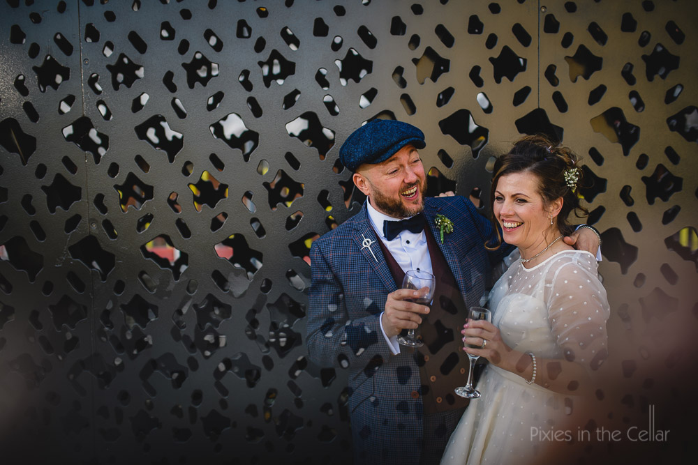 tweed flat cap wedding in Manchester
