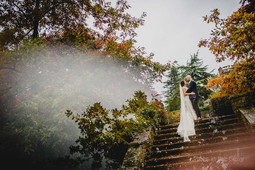 Eaves Hall Autumn Wedding Photographers