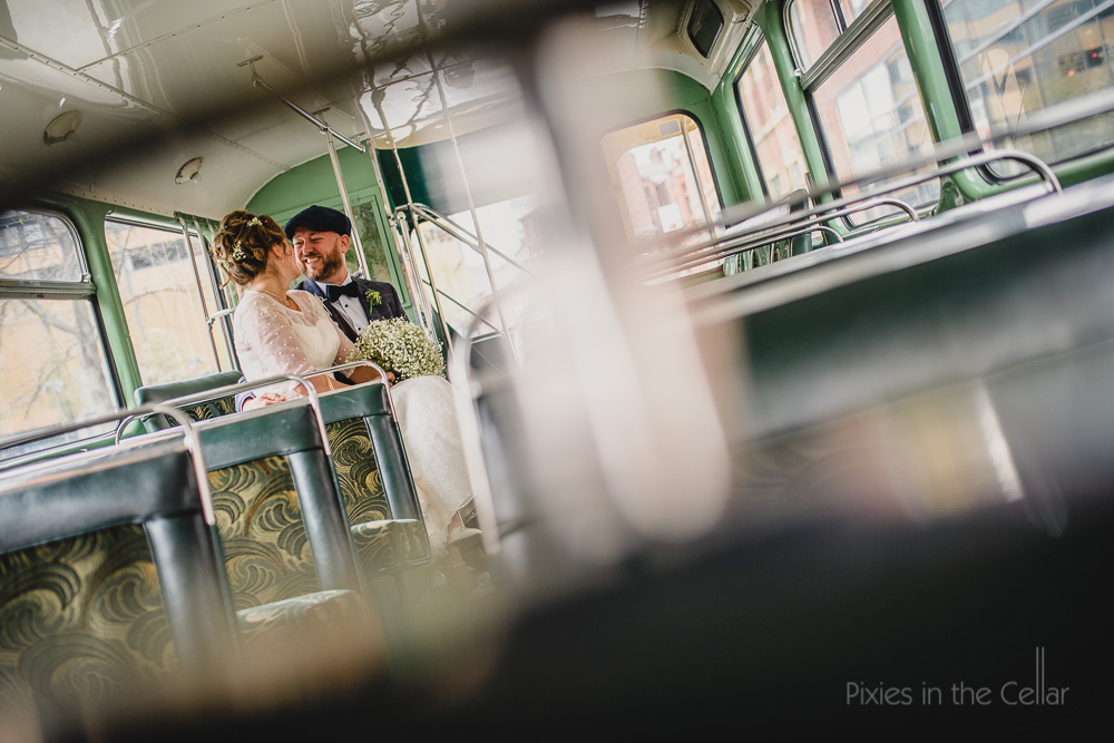 double decker wedding bus UK wedding