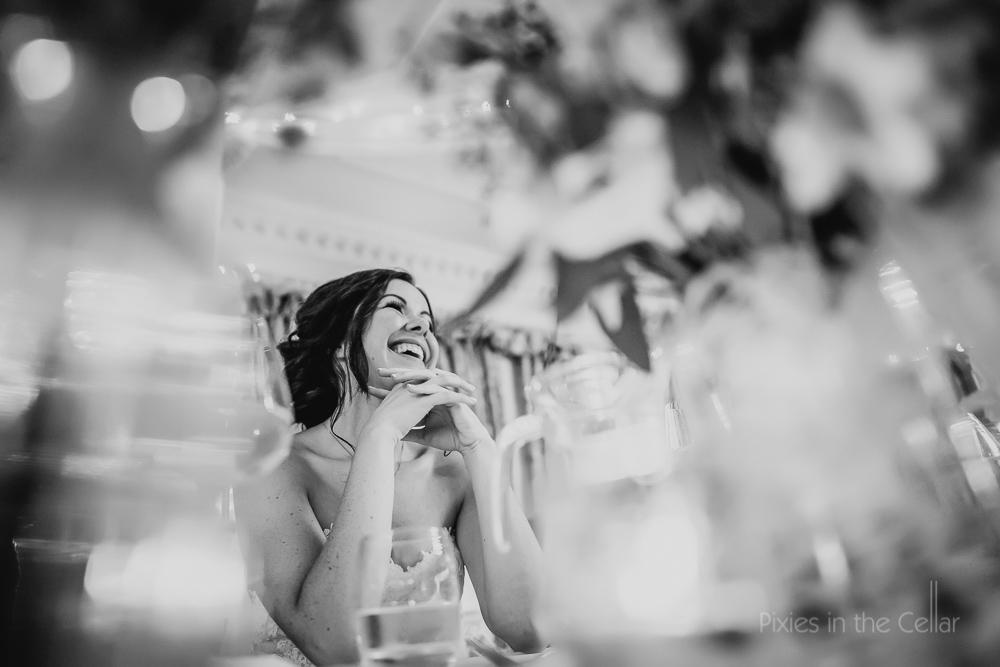 bride during speeches lancashire wedding